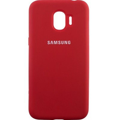 Накладка Silicone Cover для Samsung J250 (J2 Pro 2018) Silky&Soft Touch Red