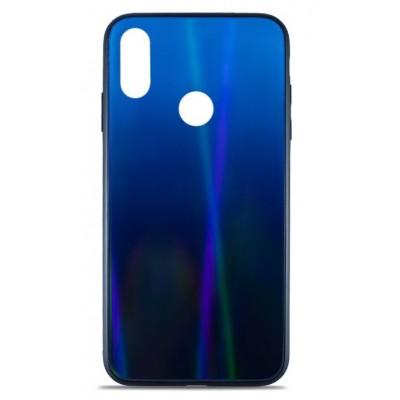Накладка Glass Case Shine Gradient для Xiaomi Redmi 7 Deep Blue