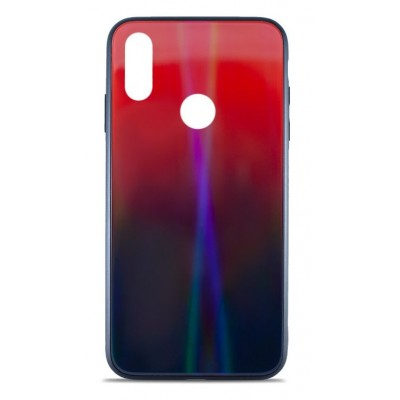 Накладка Glass Case Shine Gradient для Xiaomi Redmi 7 Sunset Red