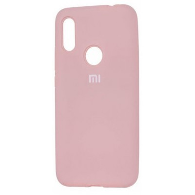 Накладка Silicone Cover для Xiaomi Redmi 7 Silky&Soft Touch Pink Sand