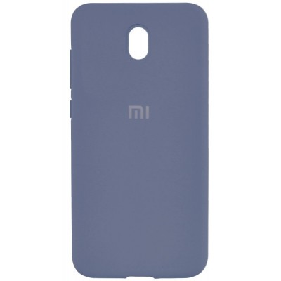 Накладка Silicone Cover для Xiaomi Redmi 8A Silky&Soft Touch Lavender Gray