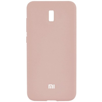 Накладка Silicone Cover для Xiaomi Redmi 8A Silky&Soft Touch Pink Sand
