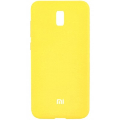 Накладка Silicone Cover для Xiaomi Redmi 8A Silky&Soft Touch Yellow