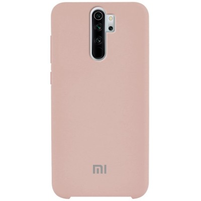 Накладка Silicone Cover для Xiaomi Redmi Note 8 Pro Silky&Soft Touch Pink Sand