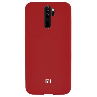 Накладка Silicone Cover для Xiaomi Redmi Note 8 Pro Silky&Soft Touch Red