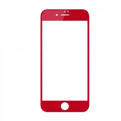 Захисне скло 3D Baseus iPhone 7 0,23mm Anti-Blue Red