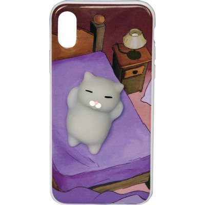 """Чехол """"силікон"""" Florence 3D+ Cat in Bed iPhone X"""