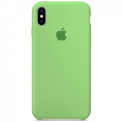 Чехол Silicon Case iPhone X Green