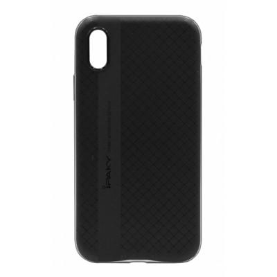 Чохол iPaky TPU+PC iPhone X Black-Grey
