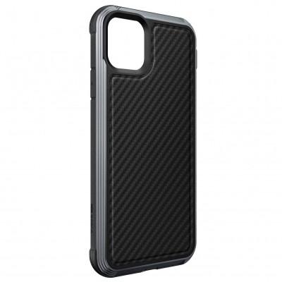 Накладка Defense Lux Series для Apple iPhone 11 Pro (TPU+Metal+Carbon) Black