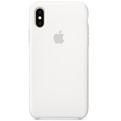Накладка Silicone Case для iPhone XS Max White