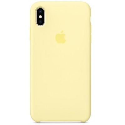 Накладка Silicone Case для iPhone XS Max Yellow