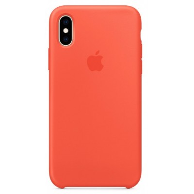 Накладка Silicone Case для iPhone XS Max Camellia