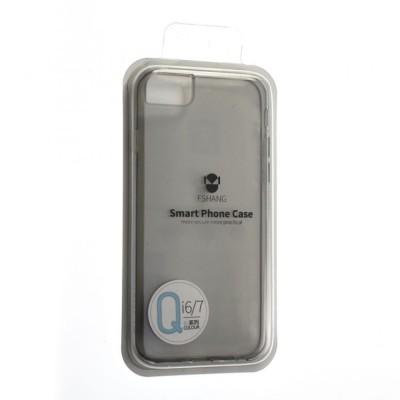 """Чехол """"силікон""""Fshang Qcolor iPhone 7 Black"""
