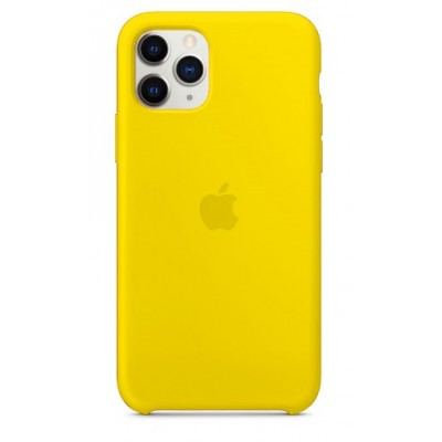 Накладка Silicone Case для iPhone 11 Pro Yellow