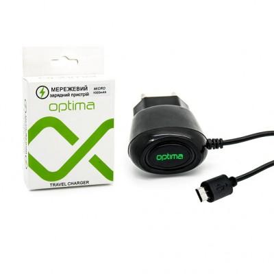 Мережевий зарядний пристрій Optima Micro USB (5V 1000mAh)