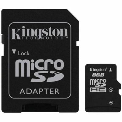 Карта пам'яті 8Gb Kingston (+SD) class 4
