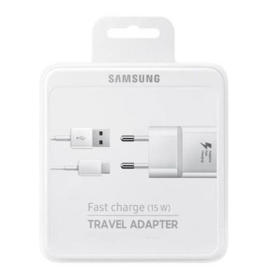 Мережевий зарядний пристрій Samsung + кабель Micro USB Fast Charge (EP-TA20EWEUGRU)