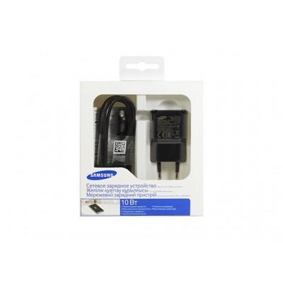Мережевий зарядний пристрій Samsung + кабель Micro USB (10W) (EP-TA12EBEUGRU) Black
