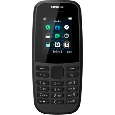 Nokia 105 SS (2019) Black
