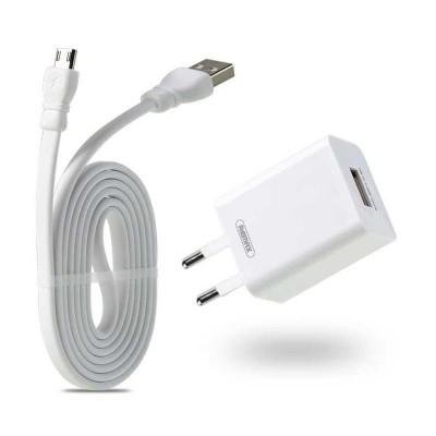 Мережевий зарядний пристрій Remax 1xUSB RP-U14 (5V, 2.4A) + кабель Type-C White
