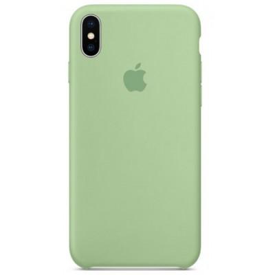 Накладка Silicone Case для iPhone X Light Green