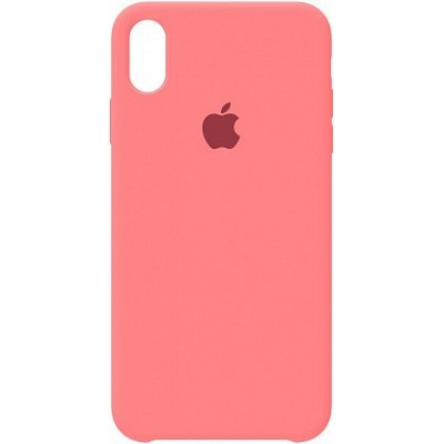 Накладка Silicone Case для iPhone X Light Red