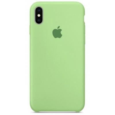 Накладка Silicone Case для iPhone X Mint