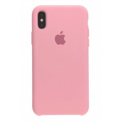 Накладка Silicone Case для iPhone X Pink