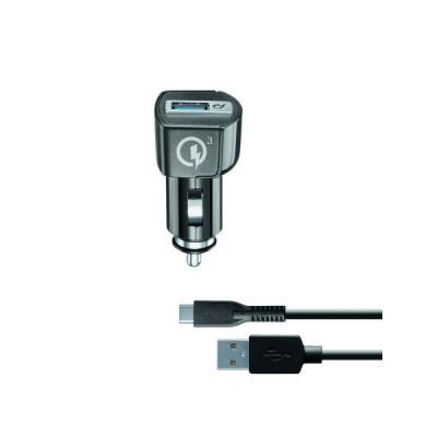 Автомобільний зарядний пристрій CellularLin Micro USB (12-24V 1000mAh) Black