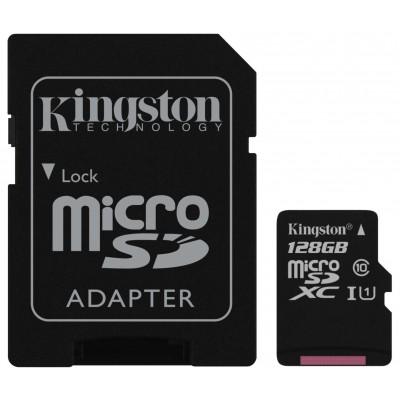 Карта пам'яті Kingston 128Gb UHS-I (R80 MB/s) Class 10 + SD