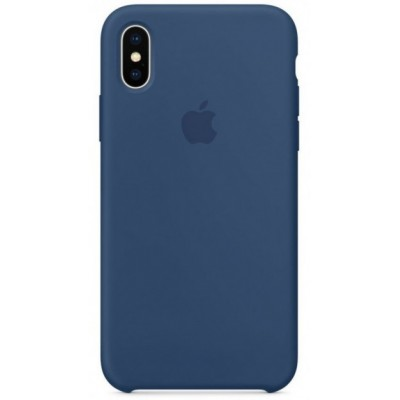 Накладка Silicone Case для iPhone X/XS Blue