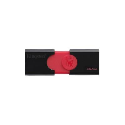 Флеш пам'ять 32Gb Kingston DT106 Black-Red 3.1