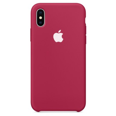 Накладка Silicone Case для iPhone X/XS Bordo