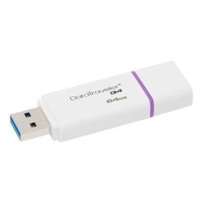 Флеш пам'ять 64Gb Kingston DT G4 White 3.1