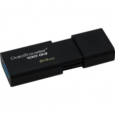 Флеш пам'ять 64Gb Kingston DT100 G3 Black 3.1