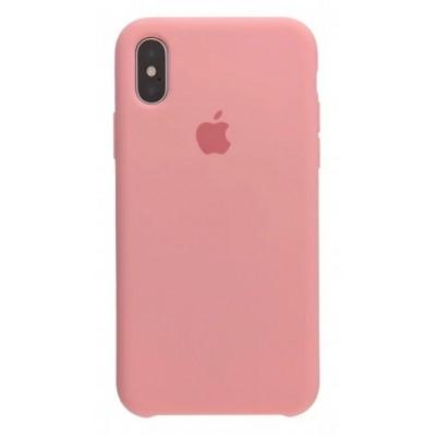 Накладка Silicone Case для iPhone X/XS Light Pink