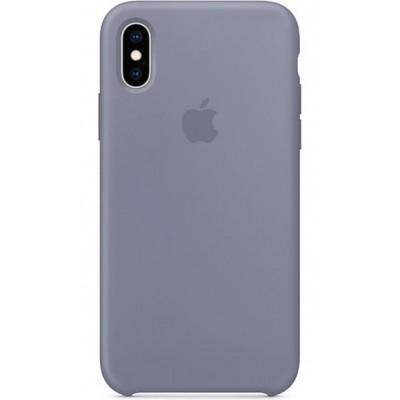 Накладка Silicone Case для iPhone X/XS Lilac