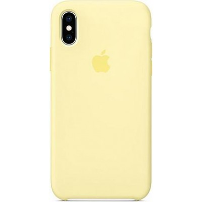 Накладка Silicone Case для iPhone X/XS Yellow