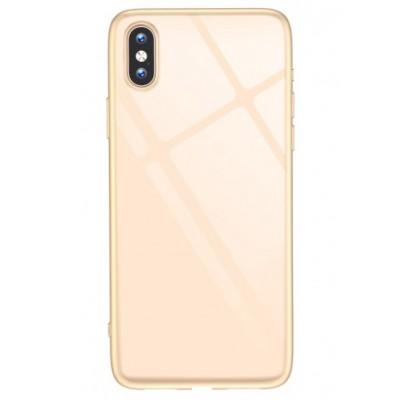 "Чохол ""силікон"" T-Phox Crystal iPhone XS Max Gold"