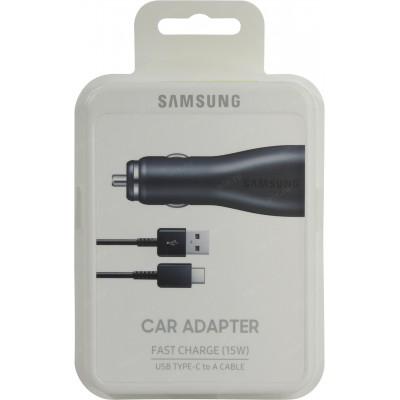 Автомобільний зарядний пристрій Samsung + Type-C Fast Charge 2USB (EP-LN920CBEGRU) Black