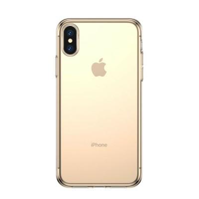 Накладка Baseus Simplicity Series для iPhone X/XS Transparent Gold