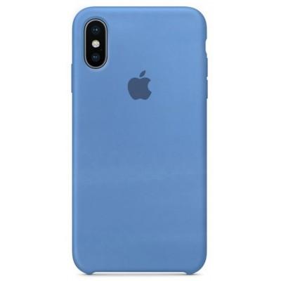 Накладка Silicone Case для iPhone XS Max Blue