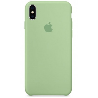 Накладка Silicone Case для iPhone XS Max Light Green