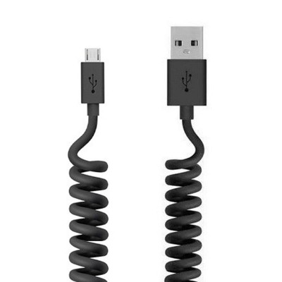 Кабель Micro USB Belkin (1,2m) Black Пружина