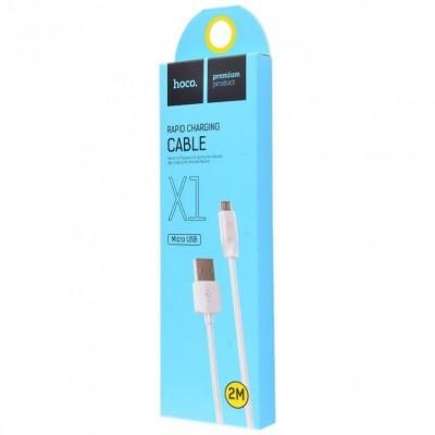 Кабель Micro USB HOCO X-1 White (2m.)
