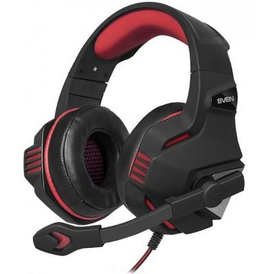 Навушники з мiкрофоном ігровi Sven AP-G890MV Black Red