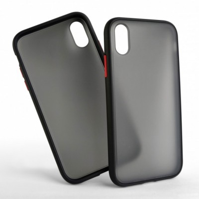 Накладка Gingle Clear Case  для iPhone X/XS Black-Red