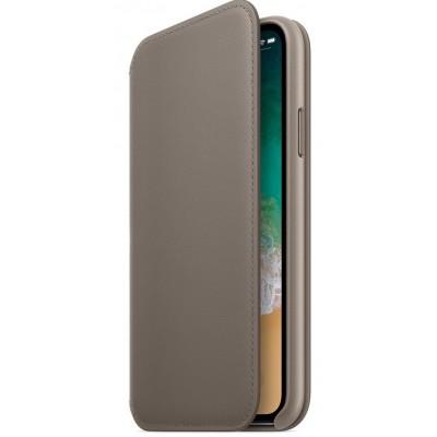 Чохол книга Classy Slim Shell iPhone XS Max Gold