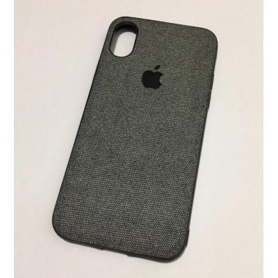 Накладка тканинна для iPhone XS Max Grey